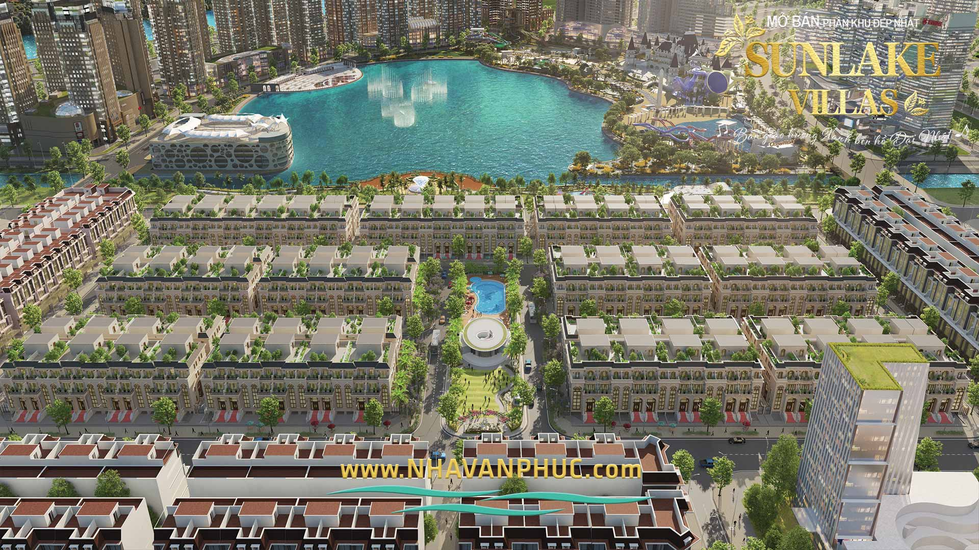 Thong tin mo ban biet thu pho Sunlake Villas Van Phuc City