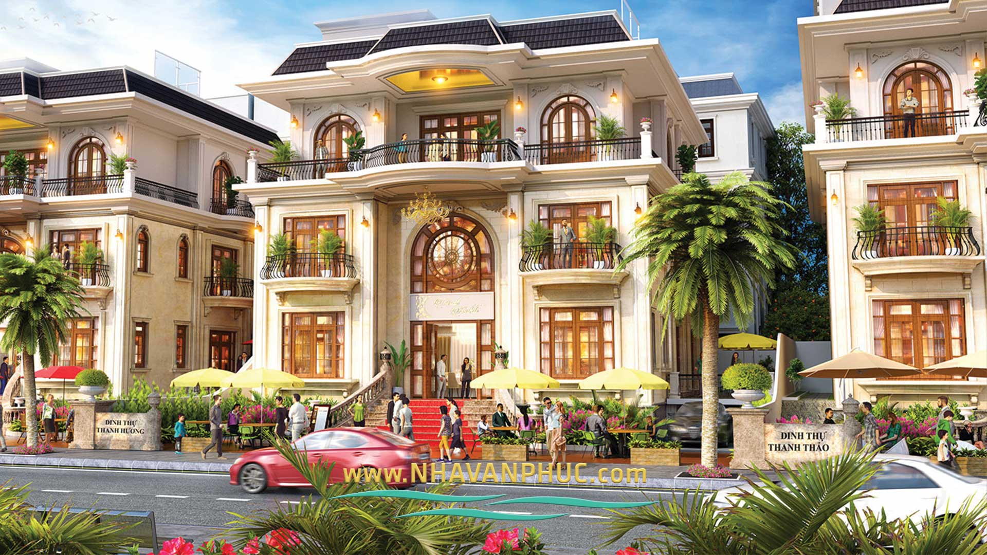 Mau biet thu Mansion du an khu do thi Van phuc city