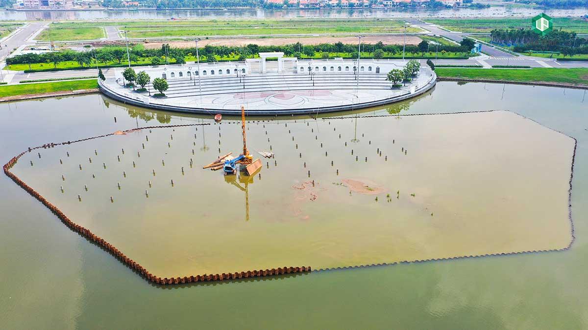 Công trình nhạc nước tại Vạn Phúc City đang xây dựng tới đâu?