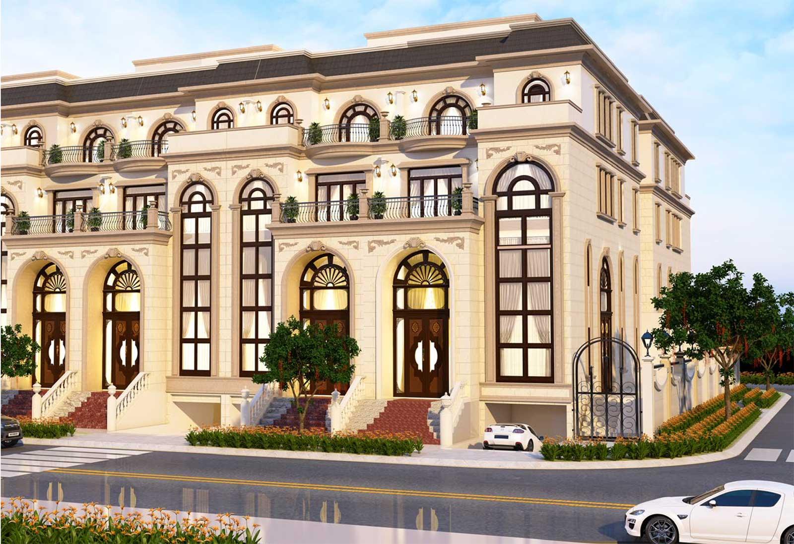 Mẫu thiết kế nhà phố Sunlake Villas căn góc